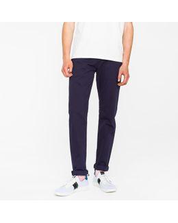 Men's Tapered-fit 9oz Garment-dye Navy Denim Jeans