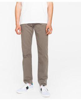 Men's Tapered-fit 9oz Garment-dye Grey Denim Jeans