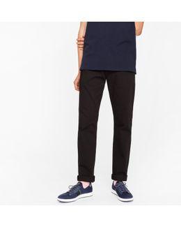 Men's Tapered-fit 9oz Garment-dye Black Denim Jeans