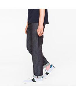 Men's Standard-fit 13oz 'unlucky Red Selvedge' Raw Denim Jeans
