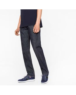 Men's Standard-fit Indigo 12oz 'pepper 'n' Salt' Organic-cotton Jeans