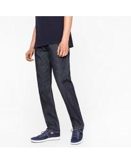 Men's Standard-fit Indigo 12oz 'pepper 'n' Salt' Organic-cotton Jeans