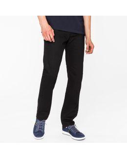 Men's Standard-fit 12oz 'super Black' Stretch-denim Jeans