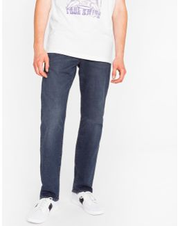 Men's Standard-fit Mid-wash 'super Soft Cross-hatch' Stretch-denim Jeans