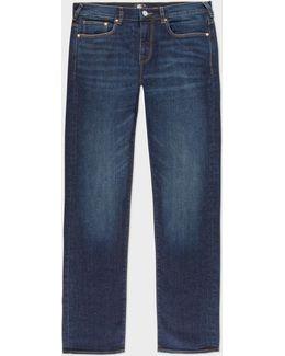 Men's Standard-fit Antique-wash 11oz 'stretch Denim Red Cast' Jeans