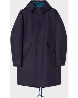 Mens Navy Water-resistant Parka