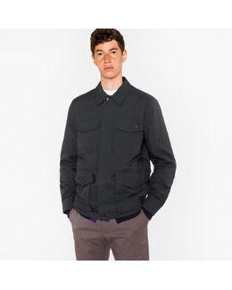 Men's Dark Green Water-resistant Field Jacket