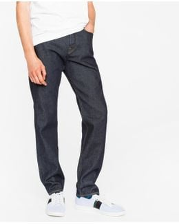 Men's Classic-fit Indigo 12oz 'pepper 'n' Salt' Organic-cotton Jeans