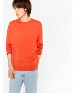 Men's Coral Merino Wool Crew Neck Sweater