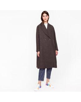 Women's Black Polka Dot Ottoman Coat
