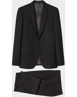 The Soho - Men's Tailored-fit Black Wool 'suit To Travel In'