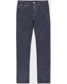 Men's Slim-fit Raw Denim Jeans With 'artist Stripe' Selvedge