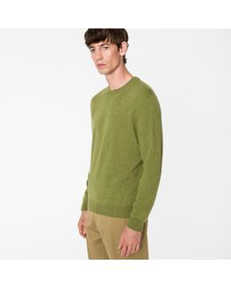 Men's Green Cashmere Sweater