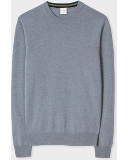 Men's Slate Blue Marl Cashmere Sweater