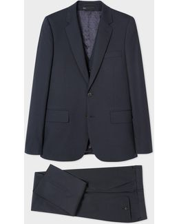 The Soho - Men's Tailored-fit Dark Navy Three-piece Wool-blend Suit