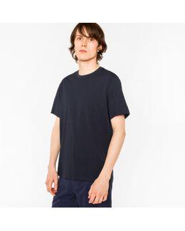 Men's Plain Navy Organic-cotton T-shirt