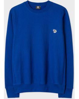 Men's Blue Organic-cotton Zebra Logo Sweatshirt