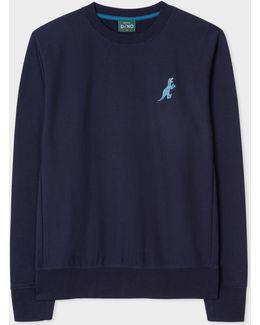 Men's Navy Organic-cotton Embroidered 'dino' Sweatshirt