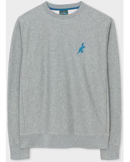 Men's Grey Organic-cotton Embroidered 'dino' Sweatshirt