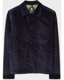 Men's Dark Navy Corduroy Chore Jacket