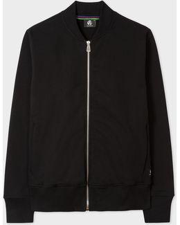 Men's Black Organic Loopback-cotton Bomber Jacket