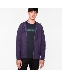 Men's Navy Organic-cotton Zip-front Hoodie