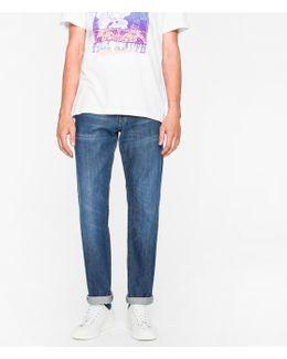 Men's Standard-fit Mid-wash 13.25oz 'japanese Red Cast' Jeans