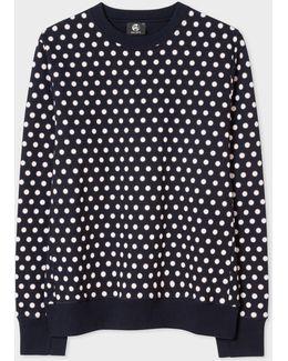 Men's Navy Cotton 'supernova Spot' Print Sweatshirt