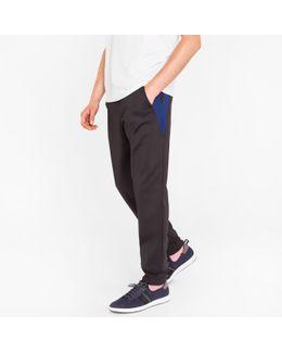 Men's Black Sweatpants With Side Panels