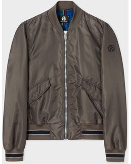 Men's Slate Grey Bomber Jacket