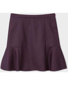 Women's Damson Wool-hopsack Skirt