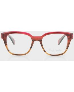 Magenta Tortoise Ombre 'hether' Spectacles
