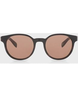 Brown Horn And Brown 'wayden' Sunglasses