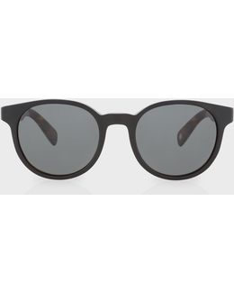 Semi-matte Onyx And Mahogany 'wayden' Sunglasses