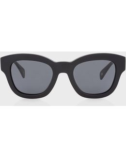 Semi-matte Onyx And Grey 'dennett' Sunglasses