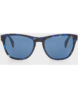 Confetti Blue 'hoban' Sunglasses