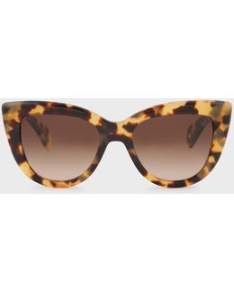 Umber Gradient And Spotty Tortoiseshell 'lovell' Sunglasses