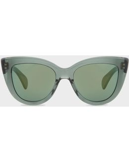 Crystal Green 'lovell' Sunglasses