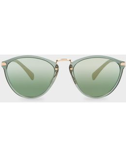 Ivy And Gold 'hawley' Mirrored Sunglasses