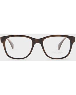 Tortoiseshell And 'artist Stripe' 'claydon' Spectacles