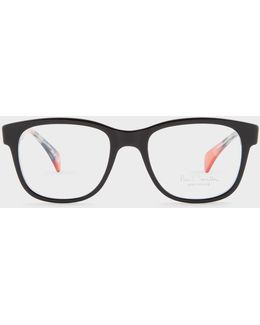 Onyx And 'artist Stripe' 'claydon' Spectacles