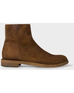 Men's Dip-dyed Dark Tan Suede 'sullivan' Boots