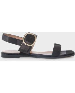 Women's Black Nubuck 'rozelle' Sandals