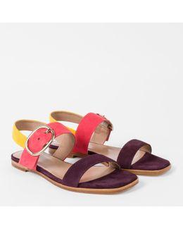 Women's Colour-block Suede 'rozelle' Sandals