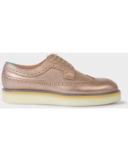 Women's Metallic Copper Leather 'maddie' Brogues