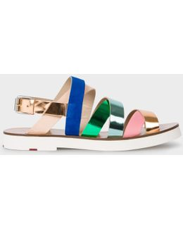 Women's Multi-colour Leather 'rio' Sandals