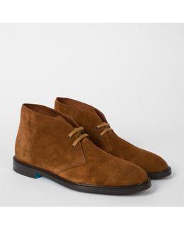 Men's Dark Tan Suede 'alec' Boots