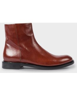 Men's Rust Brown Buffalino Leather 'sullivan' Boots