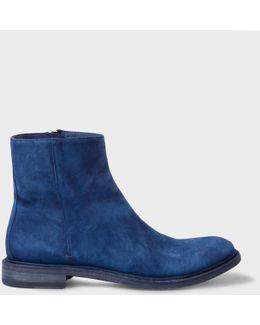 Men's Dip-dyed Dark Blue Suede 'sullivan' Boots