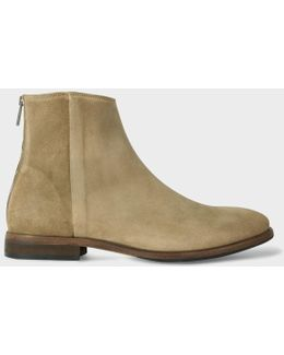 Men's Taupe Suede 'jean' Boots